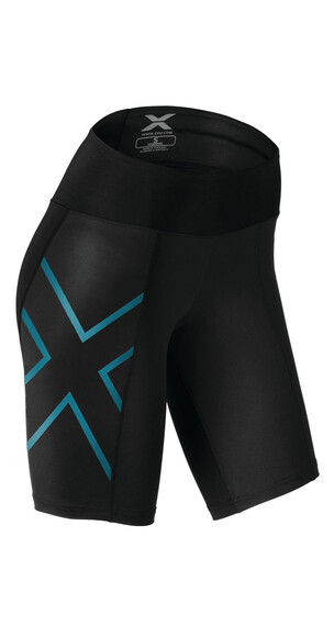2XU Mid-Rise Compression Shorts Women black/capri blue
